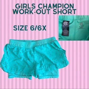 Girls Champion active workout shorts size 6/6x